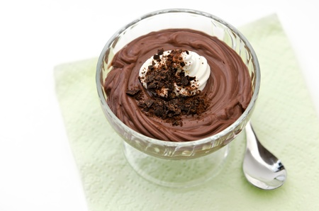 mousse: Dark chocolate mousse Stock Photo