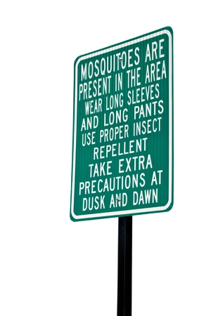 Mosquito warning sign Stock Photo - 15039867