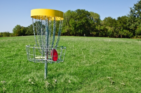 Disc golf hole Stock Photo - 15493993