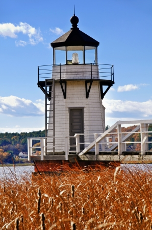 doubling: Doubling Point lighthouse on the Kennebec River, Maine
