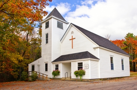 Country church in New England Archivio Fotografico