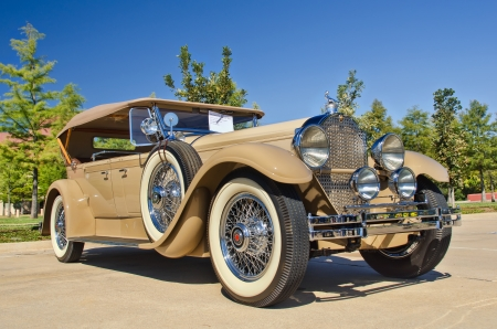 Westlake, Texas - October 27, 2012: A 1929 Packard Phaeton Model 640 on display at the 2nd Annual Westlake Classic Car Show in Westlake, Texas. Editorial