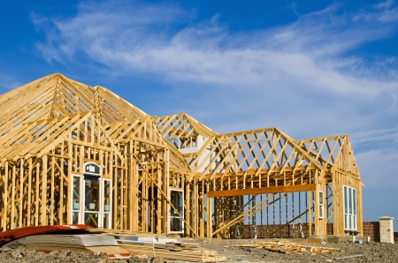 my home: New home construction framing Editorial