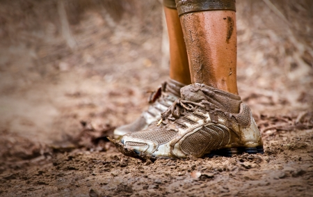 Mud race runner Stock Photo - 16565588