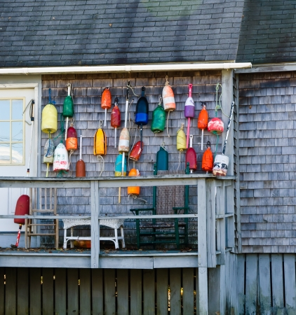 buoys: Lobster buoys