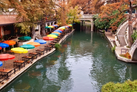 River Walk in San Antonio, Texas Editorial