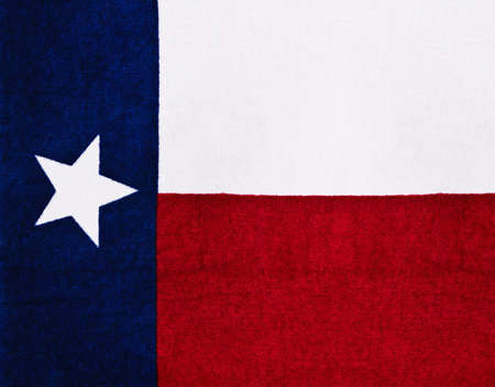 Flag of Texas on textured fabric photo