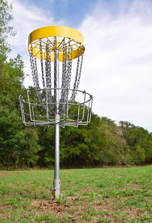 Disc golf hole in the park Stock Photo - 19025889