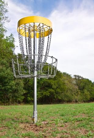 disc golf: Disc golf hole in the park