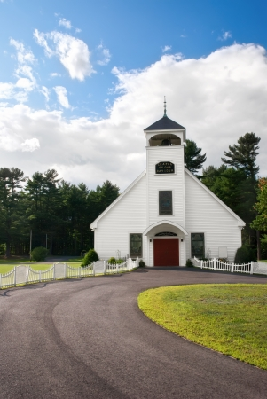 White country church in New England