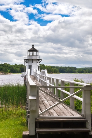 doubling: Doubling Point lighthouse on the Kennebec River, Maine, coastal New England