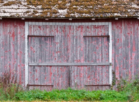 old red barn: Doors to an old weathered barn