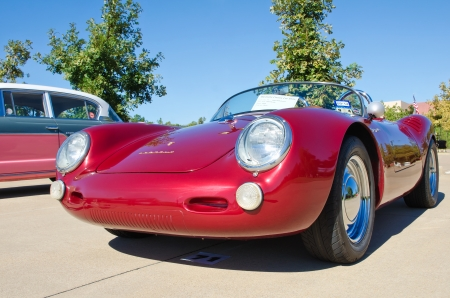 Westlake, Texas - October 19, 2013 - A 1956 Porsche 550 Spyder is on display at the 3rd Annual Westlake Classic Car Show in Westlake, Texas
