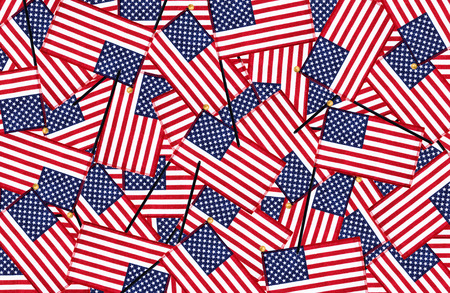 Miniature American flags background pattern photo