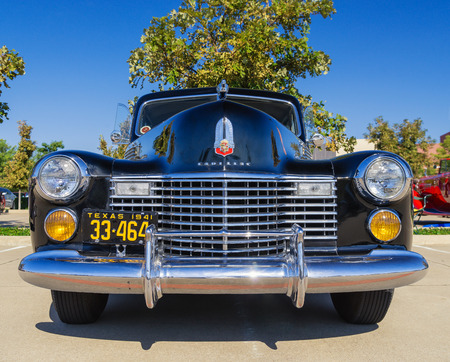 WESTLAKE, TEXAS - OCTOBER 18, 2014: A 1941 Cadillac 60 Special is on display at the 4th Annual Westlake Classic Car Show. Front view.
