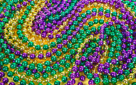 Colorful Mardi Gras beads background