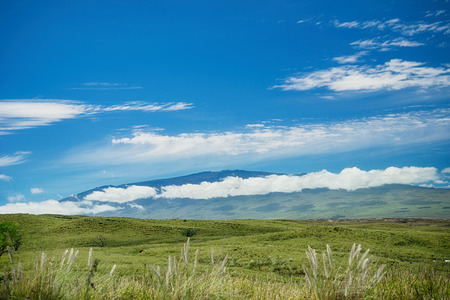 A view of Mauna Kea from Waimea on the Big Island of Hawaii.