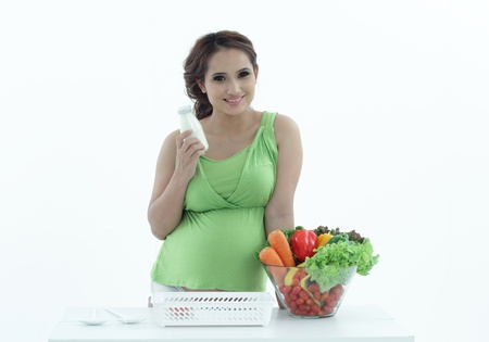 Pregnant women are the salad bowl. photo