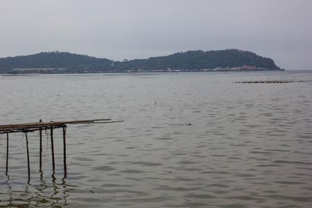 seaview: Seaview with sea and the mountain, Bangsaen beach