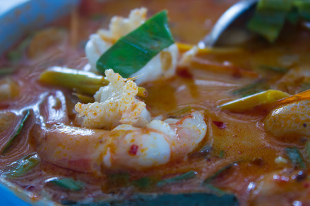 Tomyum kung, famous Thais food (shrimp) photo