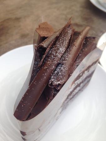 up: Close up chocolate cake Stock Photo