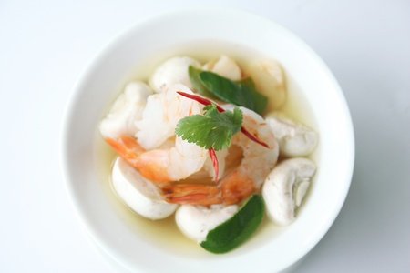 Tom yum prawn photo