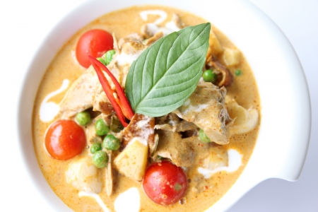 entenbraten: Thai Red Curry mit Ente