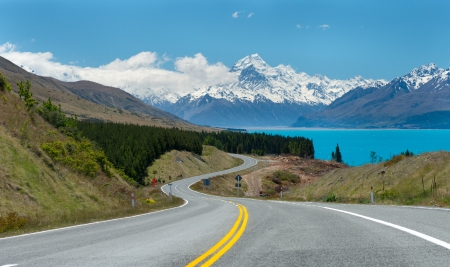 south island new zealand: Mt.Cook South Island, New Zealand. Stock Photo