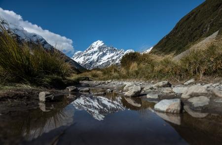 Mt.Cook Ilha do Sul, Nova Zel Banco de Imagens
