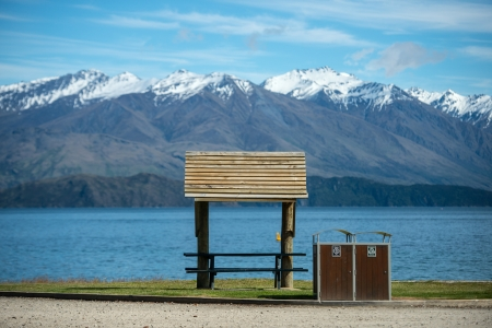 Park near Wanaka lake, South island, New Zealand  photo