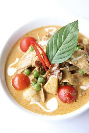 Thai red curry with roast duck