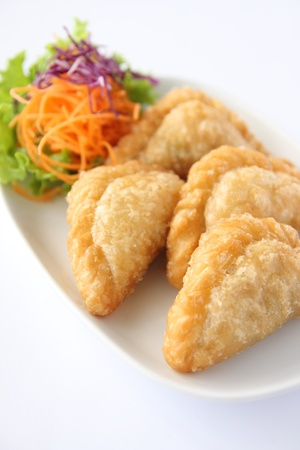 Curry puff, Thai entree, Appetizer Stock Photo - 17603525