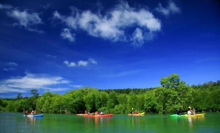 Kayaking in the thai - kayaking at krabi thailand - kayaking at