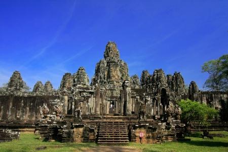 bayon: Bayon face, Angkor wat, Combodia  Stock Photo