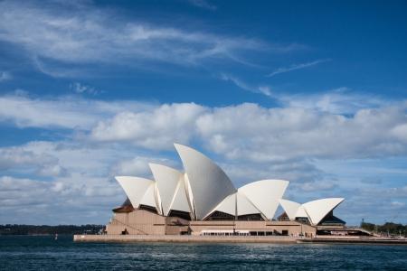 Opera house in blue sky