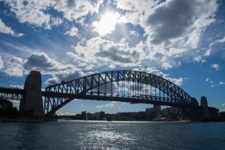 Sydney-June 2009   Habour bridge another landmark of Sydney city  photo
