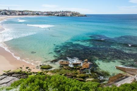 Praia de Bondi, Sydney, Austr Banco de Imagens