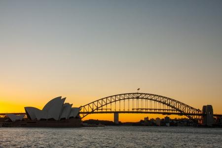 Sydney-junho de 2009 Sunset at