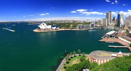 australie landschap: SYDNEY, AUSTRALIA-oktober 2009 Opera house is het oriëntatiepunt van Sydney en Australië vinden in de haven van Sydney Redactioneel