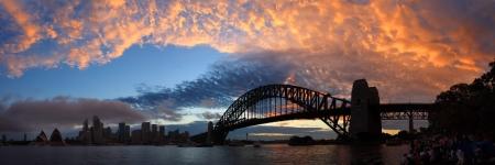 SYDNEY,NSW AUSTRALIA-DECEMBER 2009   Panorama view of Sydney harbour  Editorial