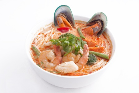 tom yum soup with noodle   photo