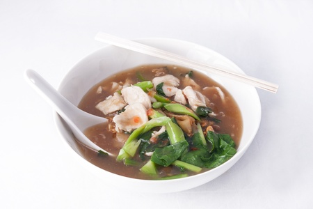 flat rice noodle with gravy sauce photo