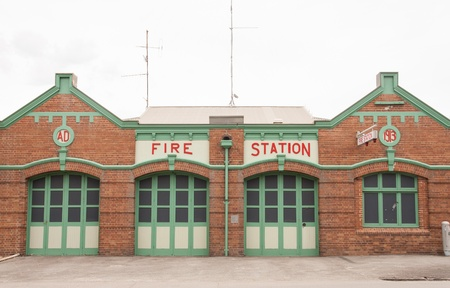 Retro fire station photo