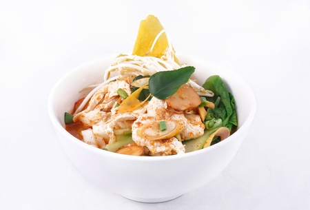 Tom yum noodle soup  Thai style spicy noodle soup