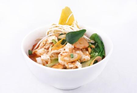 Tom yum sopa de macarr�o estilo tailand�s picante sopa de macarr�o Banco de Imagens