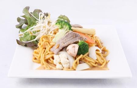 satay sauce: Hokkien noodle stir fried with satay sauce Thai style food