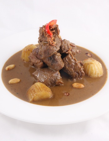 Thai food, Beef massaman curry  photo