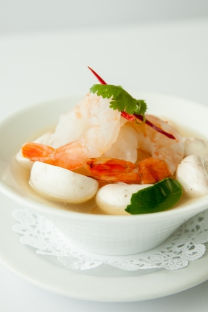 Tom yum prawn, Thai popular soup   photo