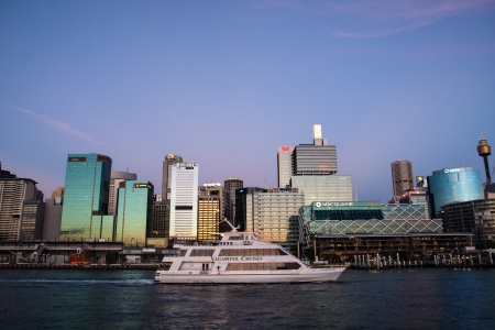 centrepoint tower: SYDNEY, NSW AUSTRALIA-MARCH 20   Cruise in Darling habour  Editorial