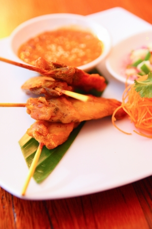 Satay chicken   photo